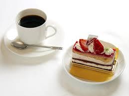 コーヒーとケーキ 画像